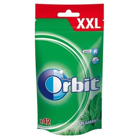 Orbit Spearmint XXL Guma do żucia bez cukru 58 g (42 drażetki)