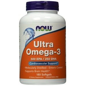 NOW Ultra Omega-3 500 EPA/250 DHA 180 kaps.