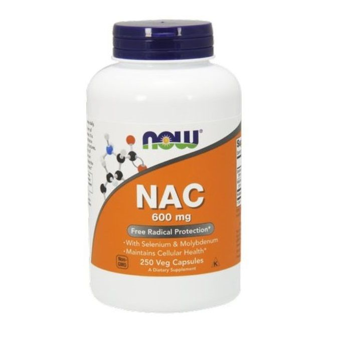 NOW Foods NAC 600mg N-Acetylocysteina 250 kaps.